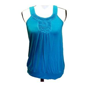 Tops - Blue Baby Doll Aztec Design Small Shirt